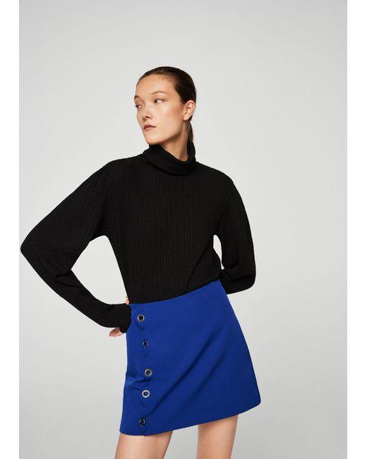 Mango | Blue Eyelets Skirt | Lyst