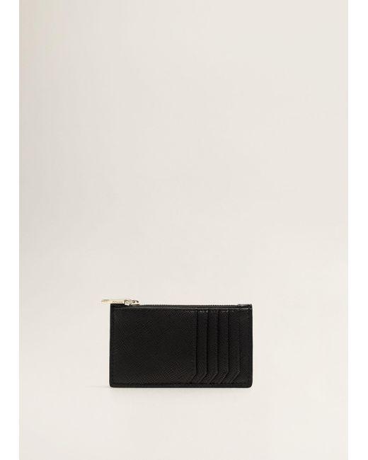 Mango - Black Multiple Compartment Cardholder - Lyst