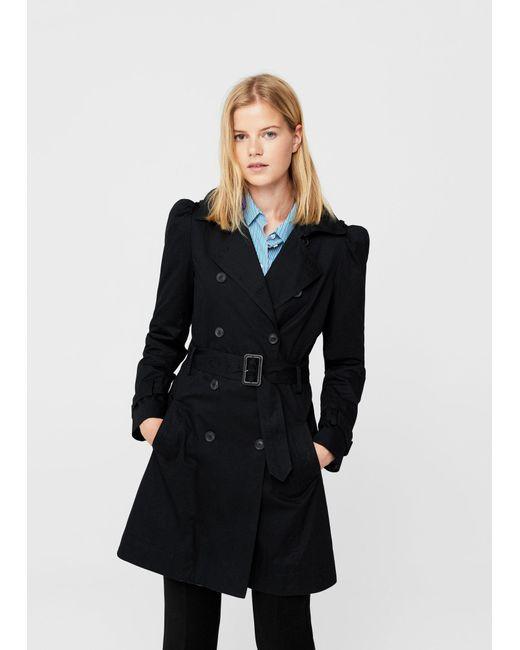 Mango | Black Trench Coat | Lyst