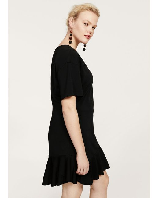 Violeta by Mango - Black Dress - Lyst