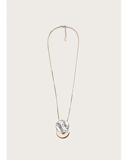 Violeta by Mango - Metallic Metal Pendant Necklace - Lyst