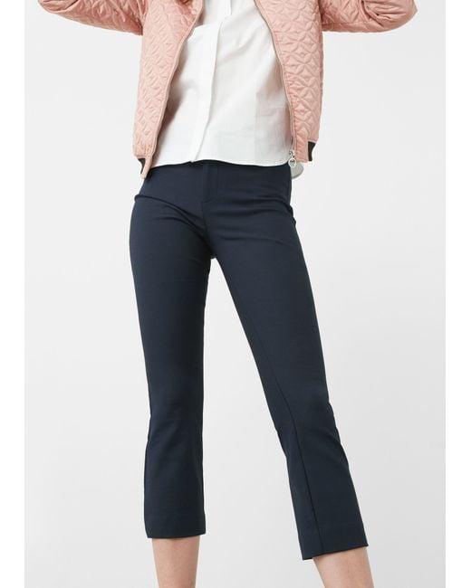 Mango   Blue Capri Trousers   Lyst