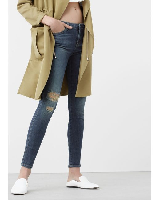 Mango   Blue Skinny Push-up Uptown Jeans   Lyst