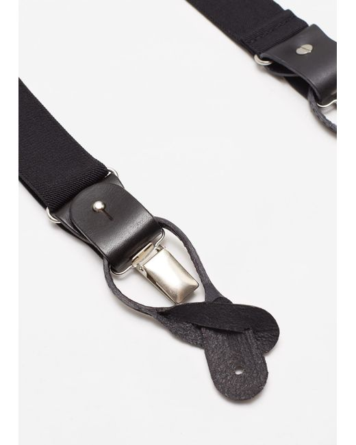 Mango | Black Adjustable Elastic Braces for Men | Lyst