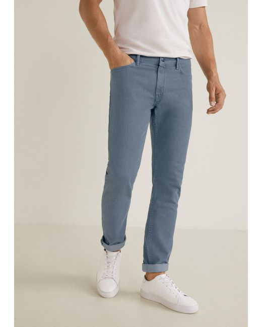 Mango - Gray Slim-fit Grey Patrick Jeans for Men - Lyst