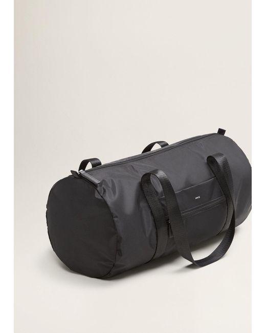 ... Mango - Black Foldable Travel Bag - Lyst ...