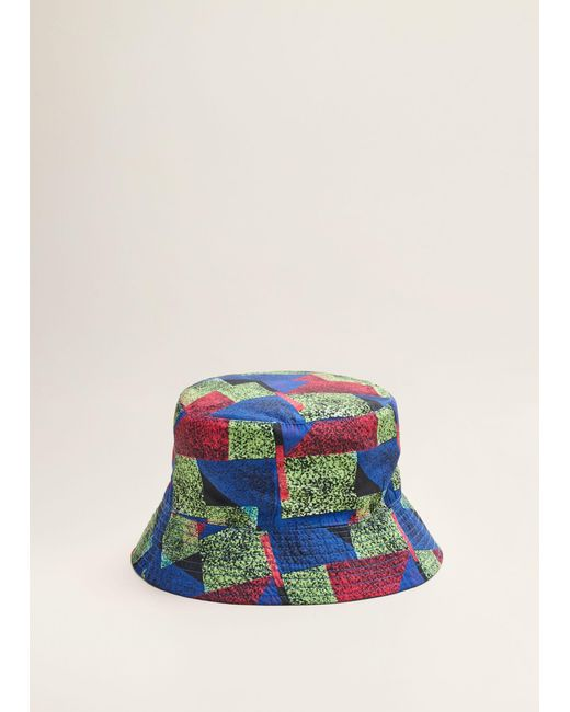 Mango - Blue Reversible Mistral Bucket Hat for Men - Lyst