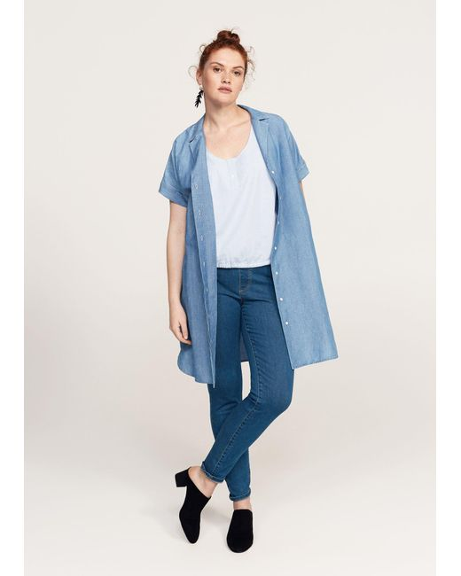 Violeta by Mango | Blue Medium Wash Massha Jeggings | Lyst