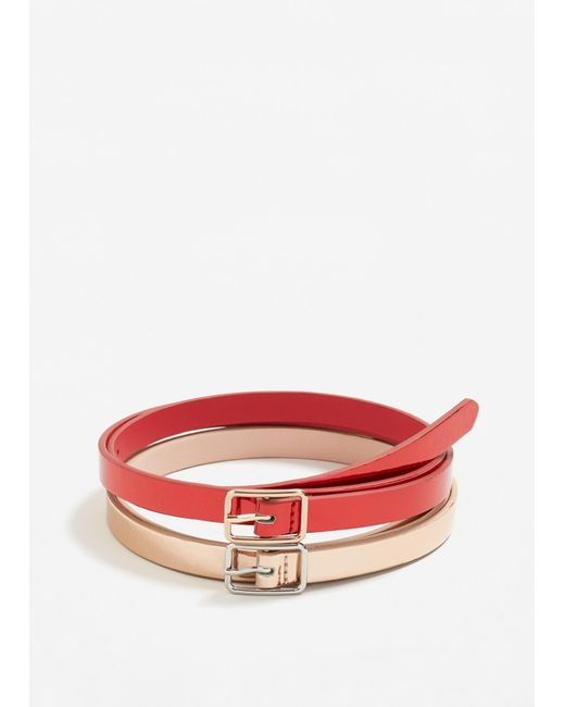 Mango | Red Skinny Belt Pack | Lyst