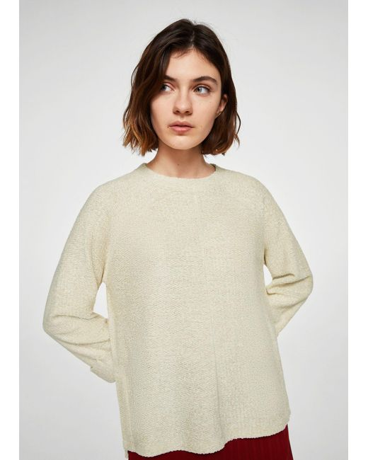 Mango - White Sweater - Lyst