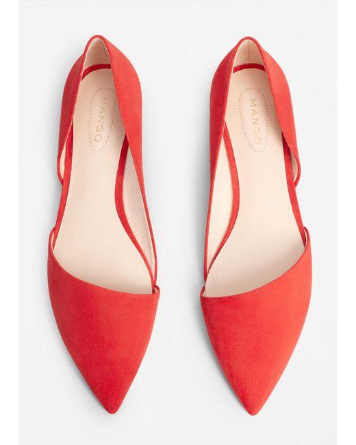 Pointed Toe Flat Shoes Mango