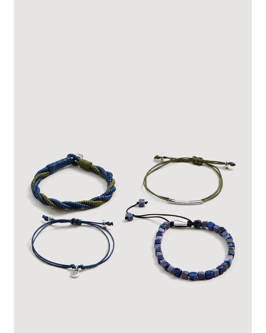Mango - Blue Mixed Bracelet Set - Lyst