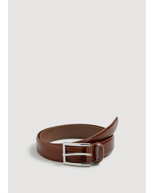 Mango - Brown Leather Suit Belt for Men - Lyst