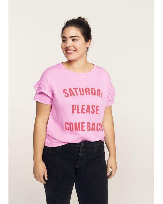 Violeta by Mango | Pink T-shirt | Lyst
