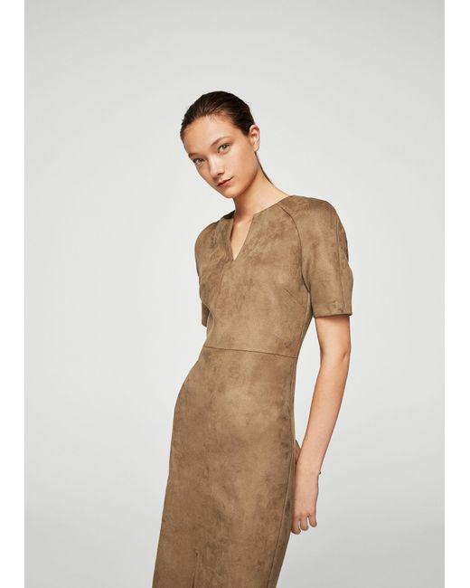 Mango   Brown Dress   Lyst
