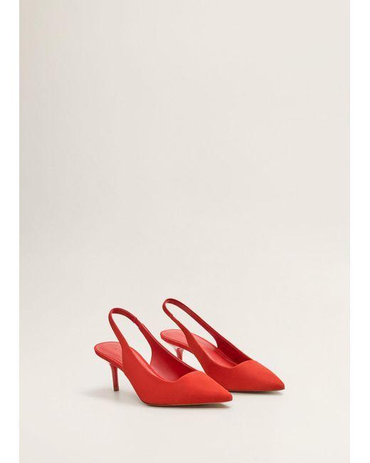 7a54ec9eeb ... Mango - Red Heel Leather Shoes - Lyst ...