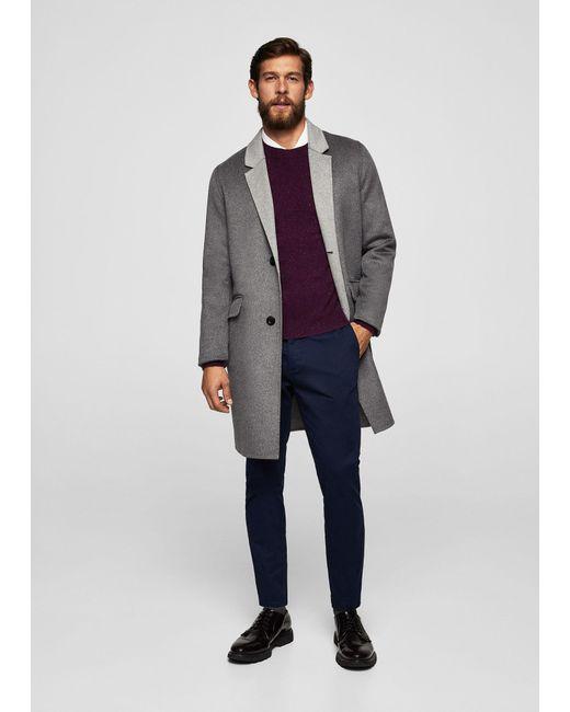 Mango | Blue Slim-fit 5 Pocket Cotton Trousers for Men | Lyst