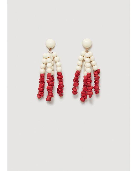 Mango - Red Stones Earrings - Lyst