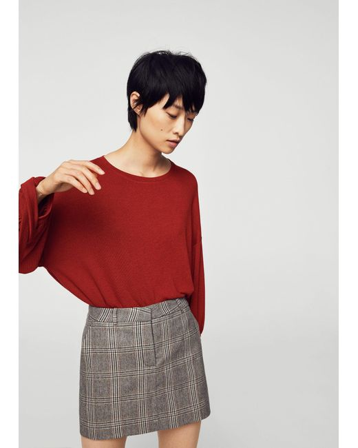 Mango - Red T-shirt - Lyst