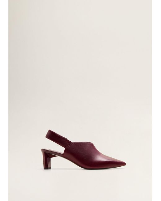 f0b57ef6e88 Mango - Multicolor Slingback Leather Shoes - Lyst ...