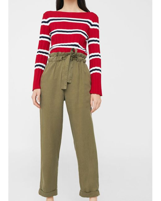 Mango | Natural Soft Cord Trousers | Lyst