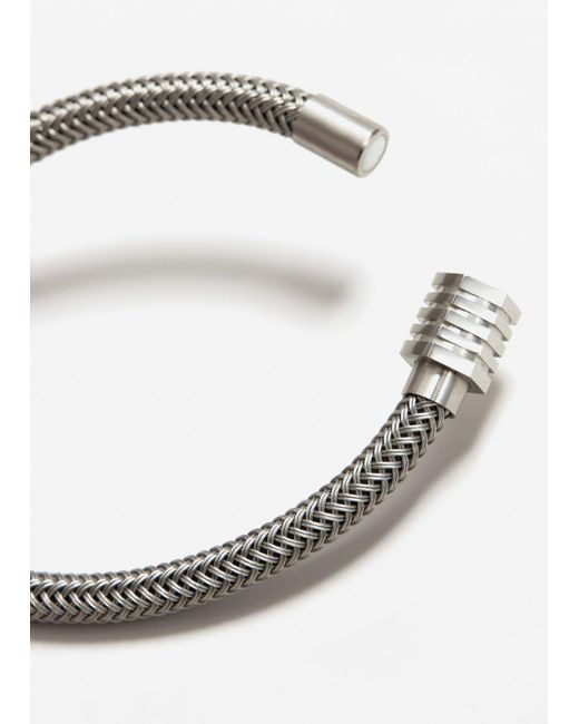 Mango | Metallic Faux Metalic Bracelet | Lyst