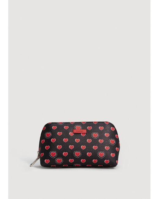 Mango - Red Printed Cosmetic Bag - Lyst
