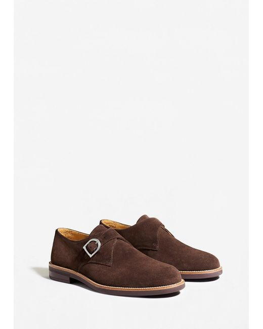 Mango | Brown Suede Monk-strap Shoes for Men | Lyst