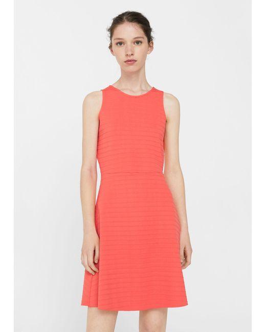 Mango   Textured Dress   Lyst