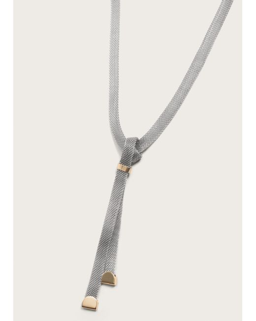 Violeta by Mango | Metallic Metal Chain Necklace | Lyst