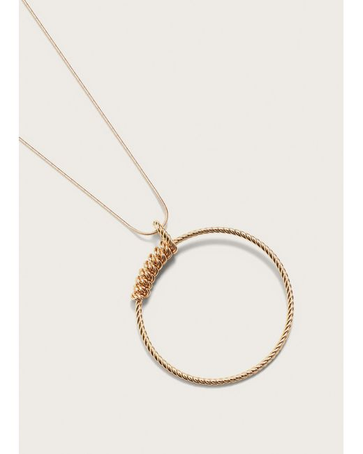 Violeta by Mango | Metallic Hoop Necklace | Lyst