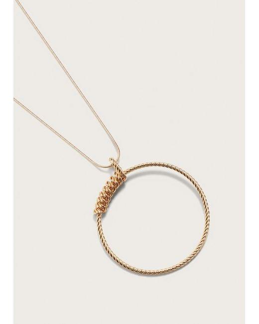 Violeta by Mango   Metallic Hoop Necklace   Lyst