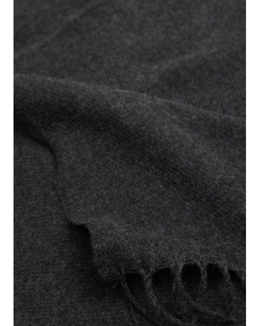 Mango - Gray Fringed Basic Scarf for Men - Lyst