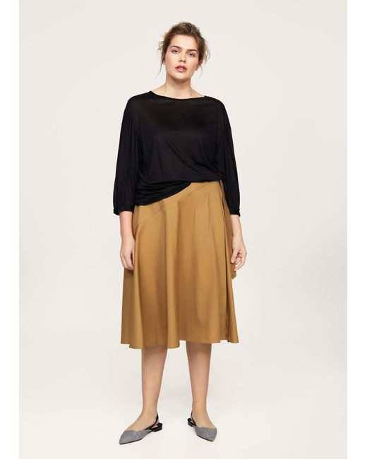 Violeta by Mango - Black T-shirt - Lyst