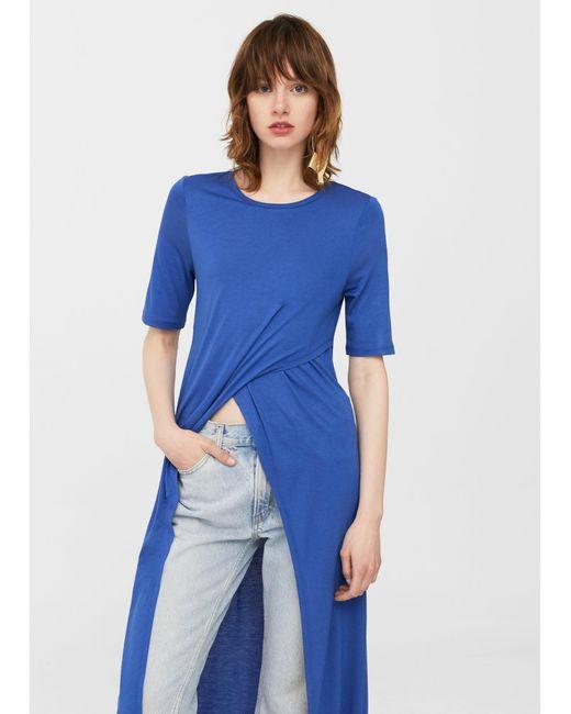 Mango | Blue T-shirt | Lyst