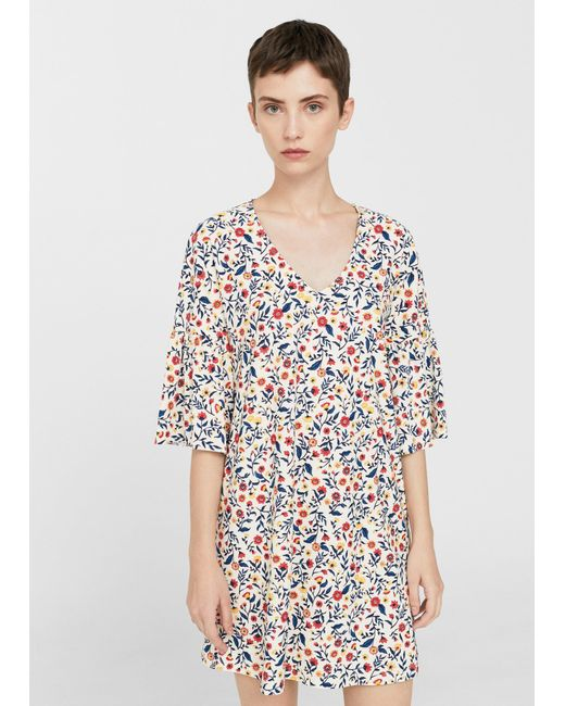 Mango | Multicolor V-neckline Dress | Lyst