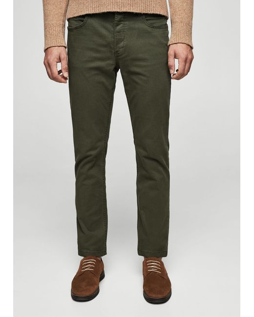 Mango | Green Slim-fit Cotton Chinos for Men | Lyst