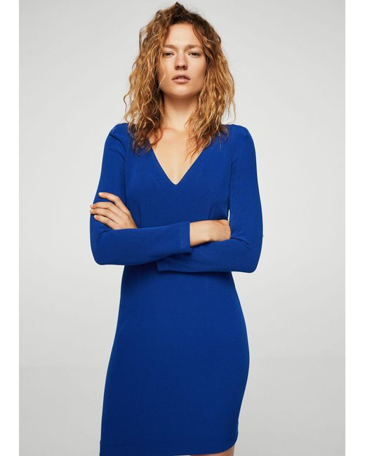 Mango | Blue Dress | Lyst