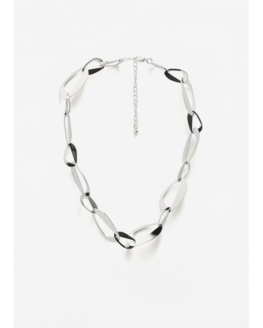 Mango   Metallic Metal Chain Necklace   Lyst