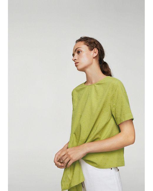 Mango - Green Blouse - Lyst