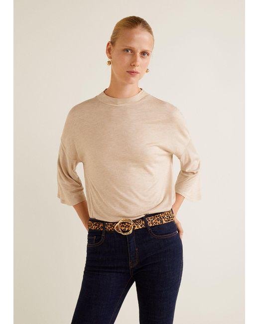 Mango - Multicolor Flecked T-shirt - Lyst