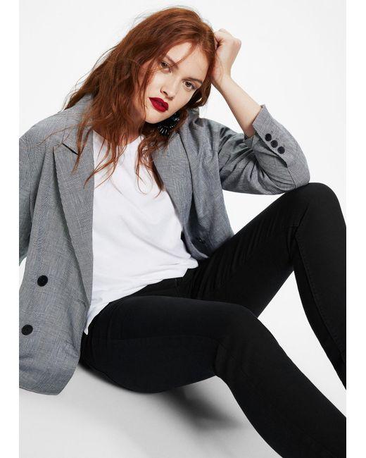 Violeta by Mango | Black Slim-fit Julie Jeans | Lyst