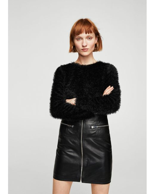 Mango - Black Sweater - Lyst