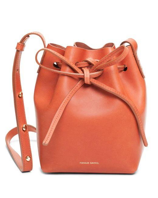Mansur Gavriel - Orange Leather Bucket Bag  - Lyst