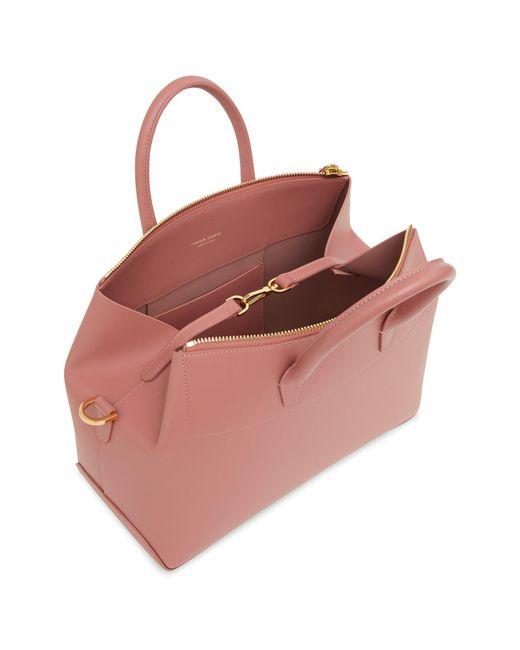 0b9ccf75f169 ... Mansur Gavriel - Pink Calf Mini Travel Crossbody Bag - Blush - Lyst ...