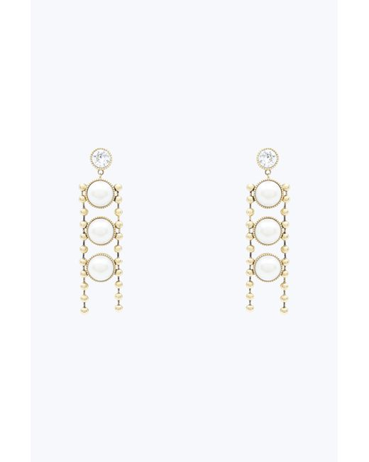 Marc Jacobs | Metallic Pearl Chain Earring | Lyst