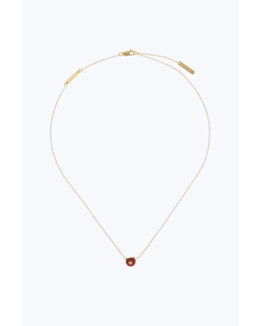 Marc Jacobs - Metallic Apple Pendant Necklace - Lyst