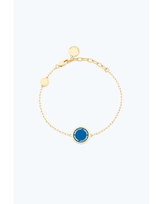 Marc Jacobs - Blue Logo Disc Bracelet - Lyst