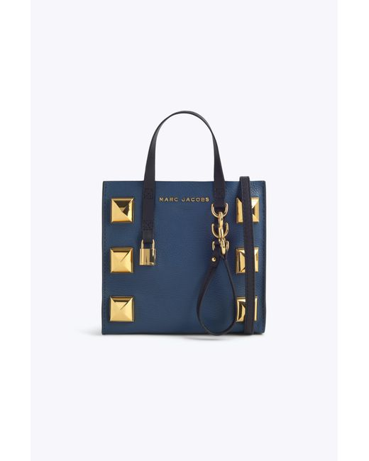 Marc Jacobs - Blue Mini Grind Stud Tote Bag - Lyst