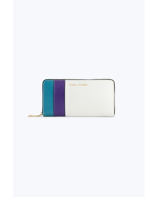 Marc Jacobs | Blue Saffiano Standard Continental Wallet | Lyst